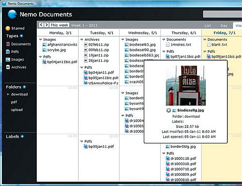 Un file manager basato sulle date
