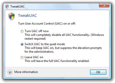 Controlla il noioso UAC di Windows Vista e Windows 7