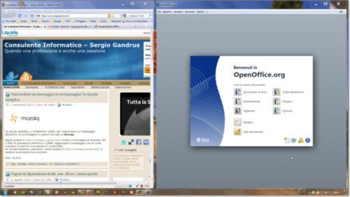 Disposizione finestre in Windows 7