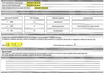 Vicenda SKY: l'agenzia di recupero crediti
