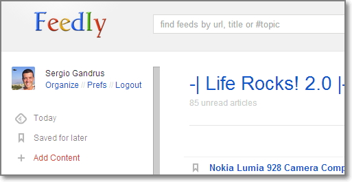 feedly reader Google Reader: il passaggio indolore a Feedly (con Chrome)