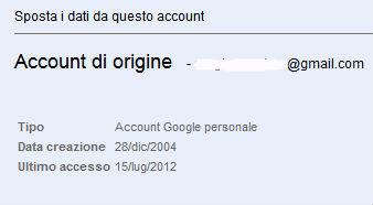 Scaricare di dati personali Google