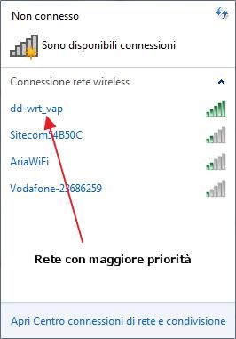 Reti wireless disponibili: come impostare le priorità di connessione
