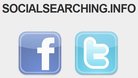 Cercare attraverso i post di Facebook e Twitter