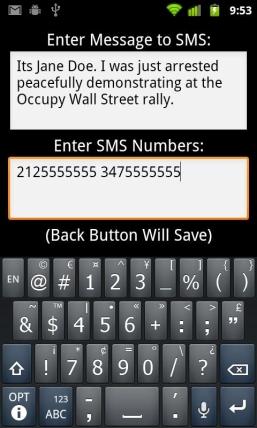 Un app per Android da usare in caso di arresto