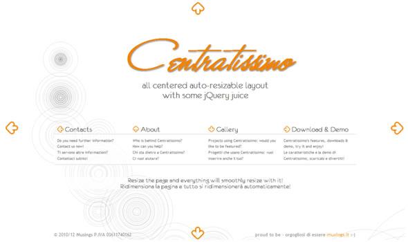 Centratissimo: un layout originale che sta sempre al posto suo.. al centro
