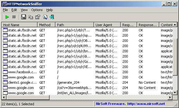 Intercettare pacchetti HTTP con HTTPNetworkSniffer