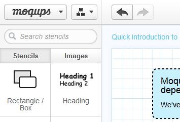 Creare mockup online con un'applicazione completamente in HTML5