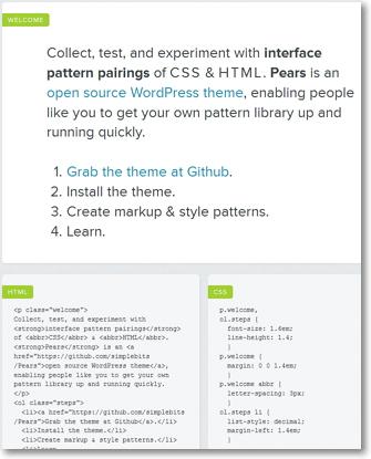 Pears: il tema per WordPress che ti insegna l' HTML e il CSS